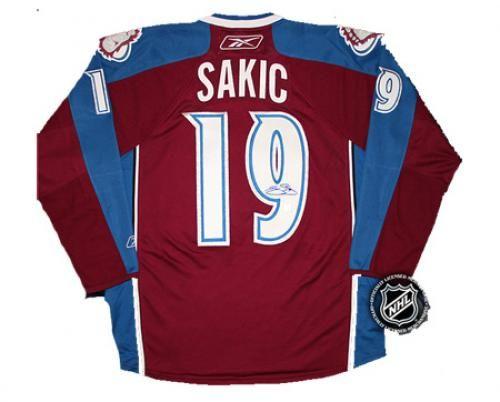 Joe Sakic Autographed Jersey  SportsMemorabilia  ColoradoAvalanche ... a8c50478e