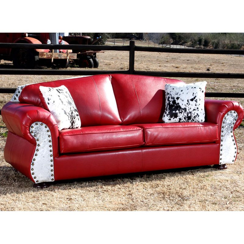 leather western couches | Red Barn Bunkhouse Sofa - SaddleBack ...