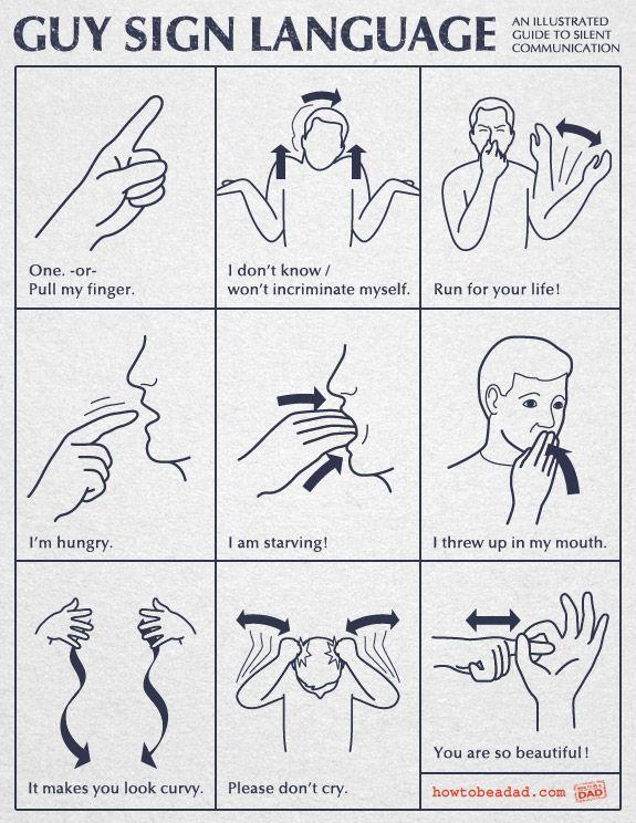 guy sign language sign language language and humor