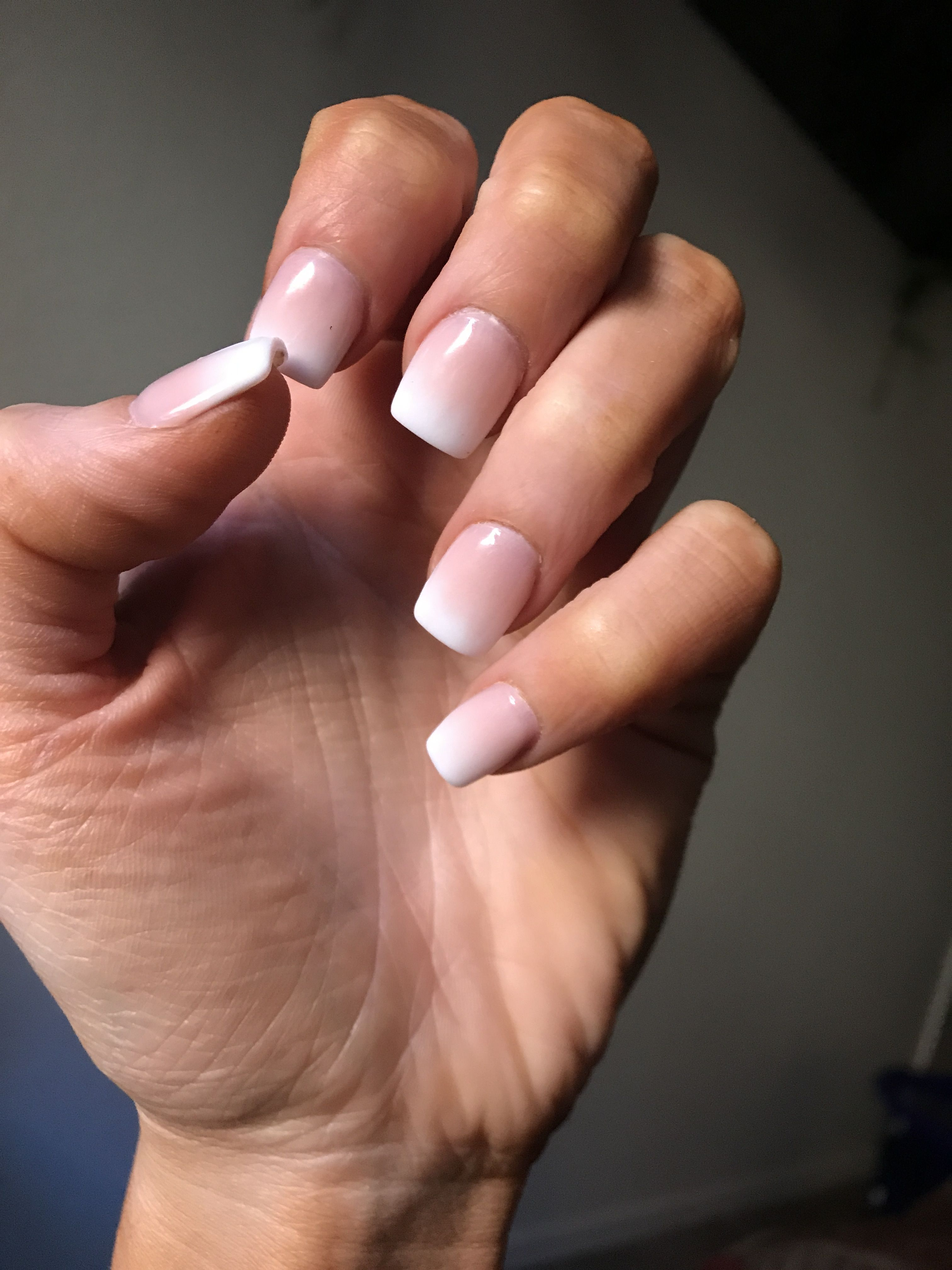 Ombré French tips #typesofnaildesigns | Solid color nails