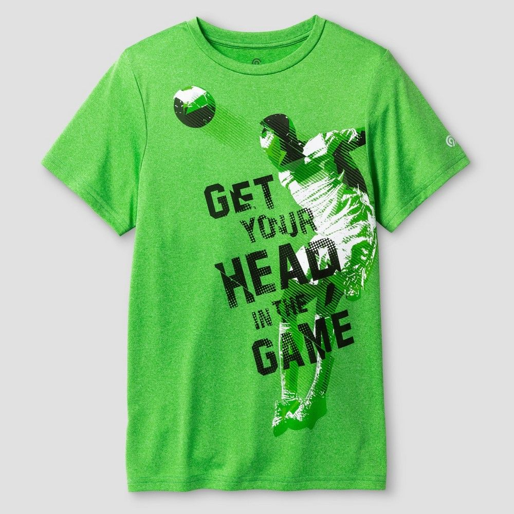 eec806436 Boys' Graphic Tech T-Shirt Green L C9 Champion - Get Your Head In The Game,  Boy's