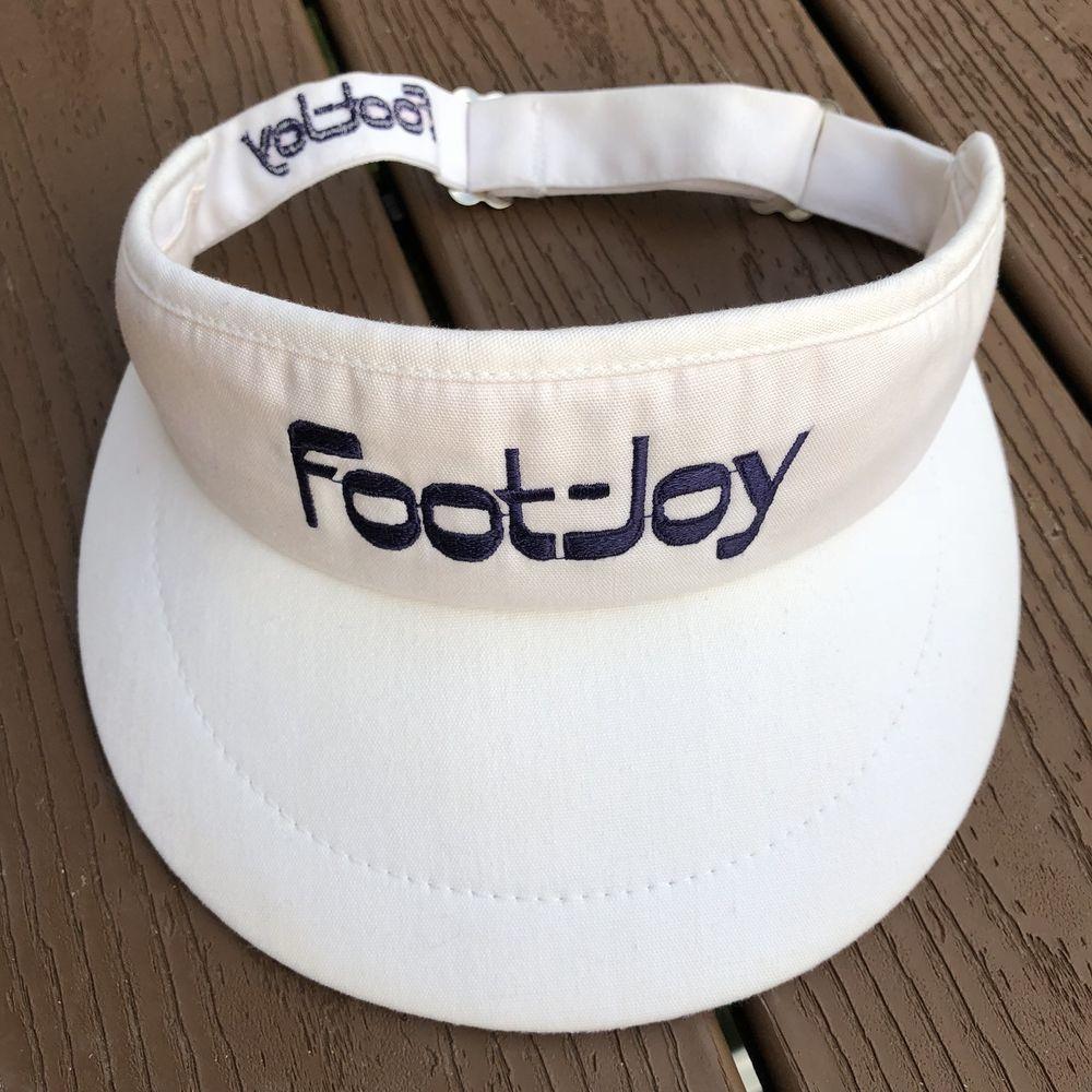Footjoy Vintage Golf Adjustable Visor Hat Cap Made In Usa Footjoy Visor Visor Hats Footjoy