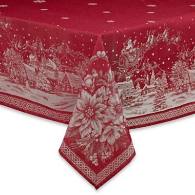 Buy Christmas Story 60 Inch X 84 Inch Oblong Tablecloth In Red From