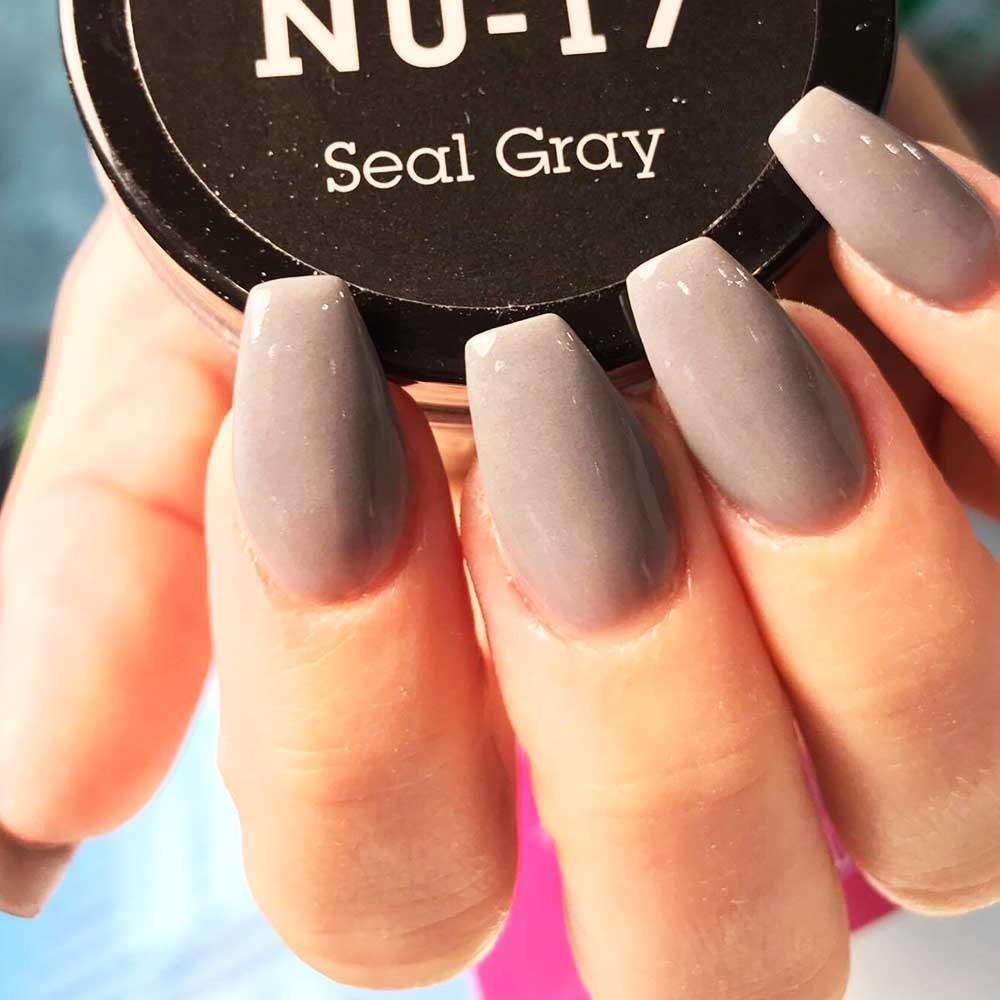 NU 17 Seal Gray   Neutral nails, Dipped nails and Nail inspo