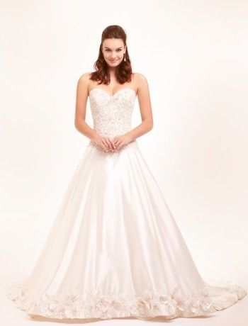 Sweetheart Princess/Ball Gown Wedding Dress  with Dropped Waist in Satin. Bridal Gown Style Number:32398117