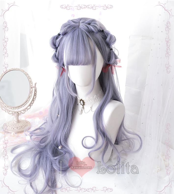 Japanese Fashion Harajuku Kawaii Long Curly Wigs Daily Wigs LK19010328 from lolita store