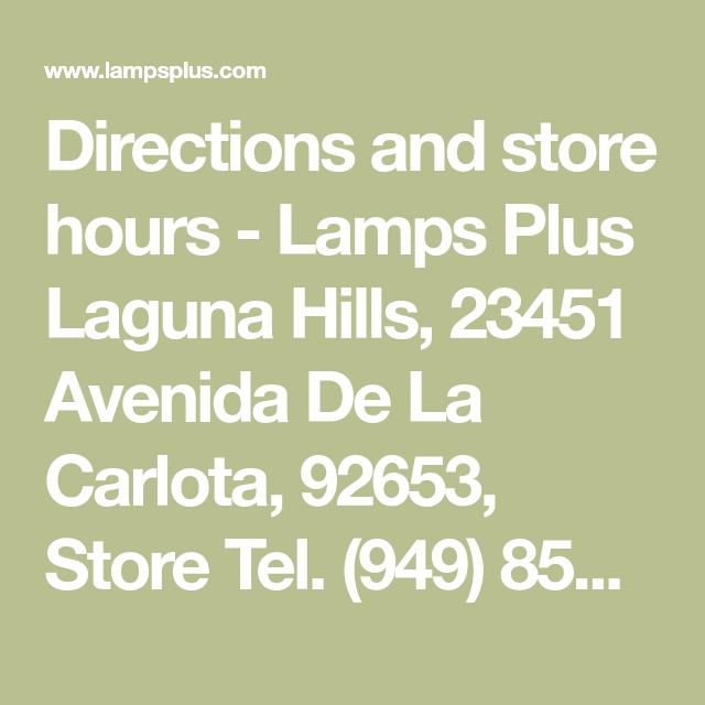 Lamps Plus Laguna Hills Ca