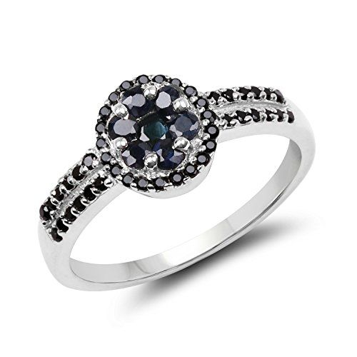 15mm Rhodium Plated Sterling Silver Intertwined CZ Pave Set Right Hand Ring