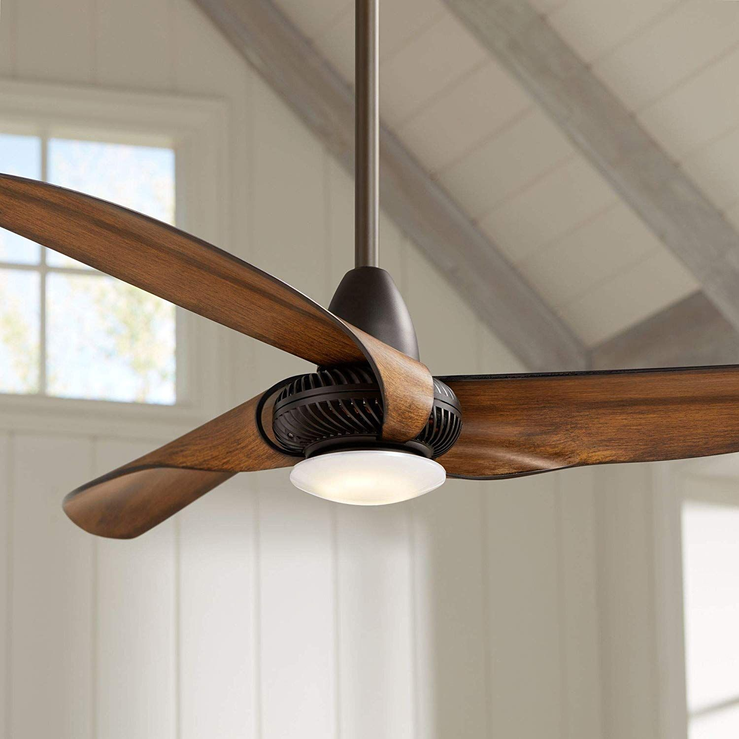 56 Sleuth8482 Oil Rubbed Bronze Led Ceiling Fan Amazon Com