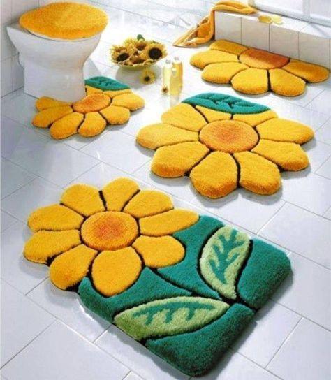 Tapete De Barbante Como Fazer S 34, Modern Bathroom Rug Sets