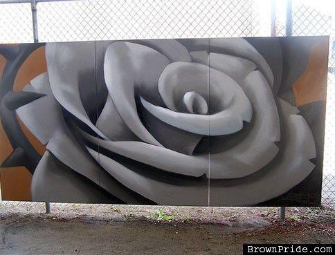 OG Abel Rose Graffiti Piece-Rose   Dia de la muerte ...