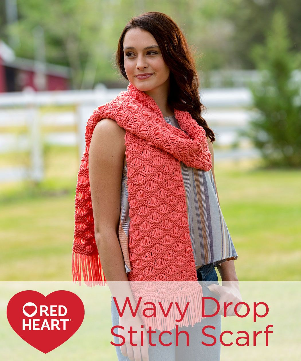 Wavy drop stitch scarf free knitting pattern in red heart yarn wavy drop stitch scarf free knitting pattern in red heart yarn using this bankloansurffo Images
