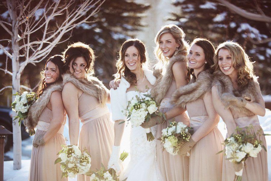 Winter Wedding Dress with Gloves