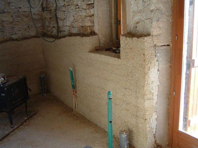 enduit chaux et chanvre mur de paille pinterest. Black Bedroom Furniture Sets. Home Design Ideas