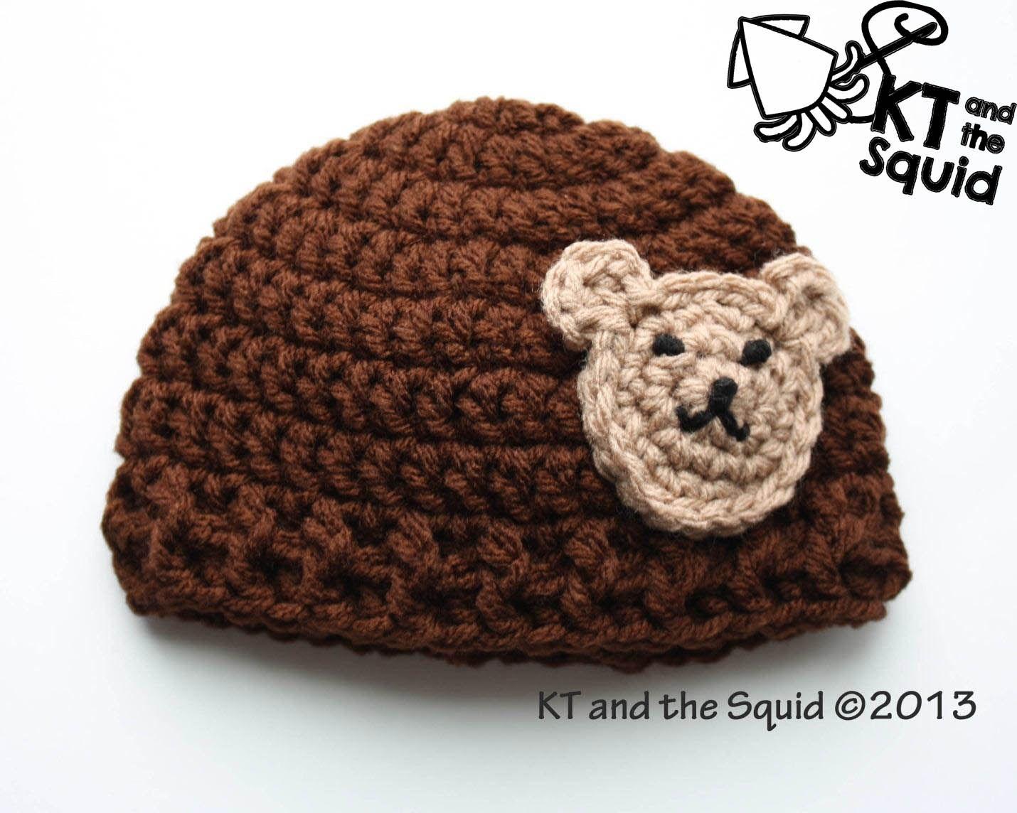 Free Bear applique hat crochet pattern | Proyectos que intentar ...