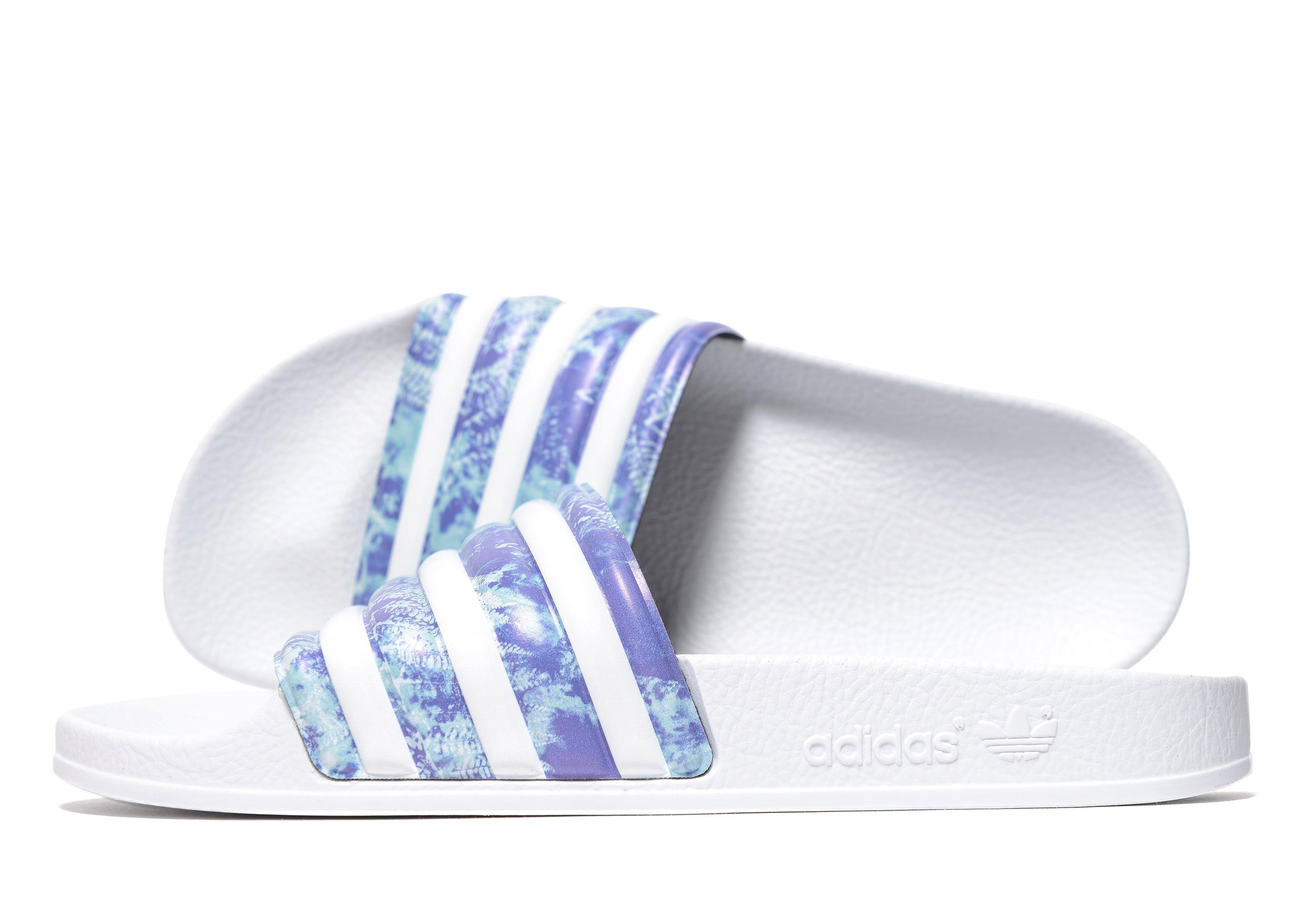 a914eddfa adidas slides slide stripes purple ...