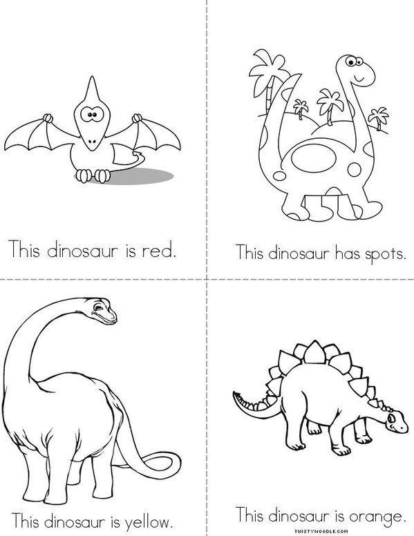 Tema Colours 1 2 Kl Dinosaur Coloring Pages Dinosaur Coloring Mini Books