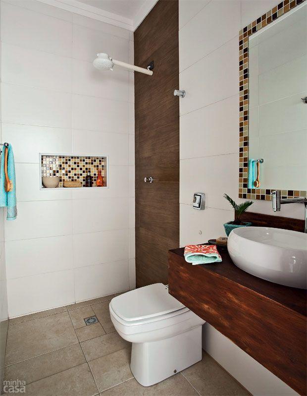 Banheiro banheiro pinterest reformas reaproveitar e - Reforma piso pequeno ...