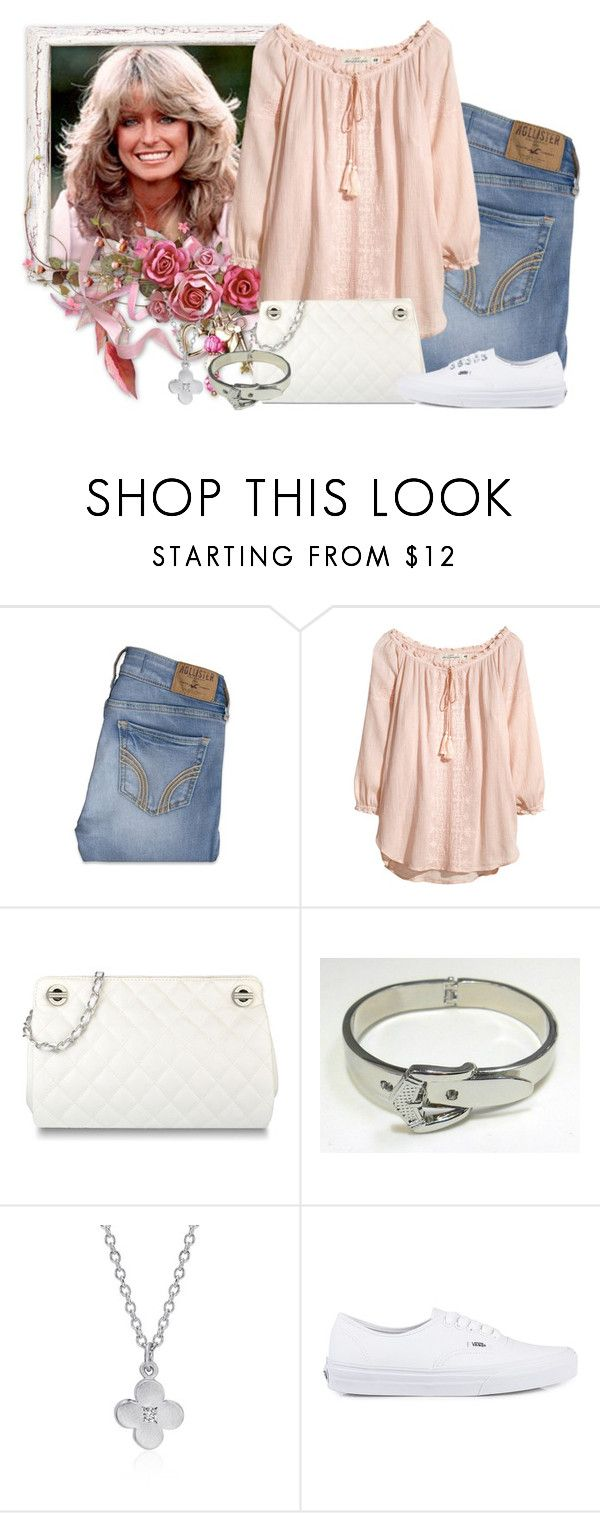 """""""Farrah Fawcett"""" by gale-strother ❤ liked on Polyvore featuring Hollister Co., H&M, CHARLES & KEITH, Vans and departeddivas"""