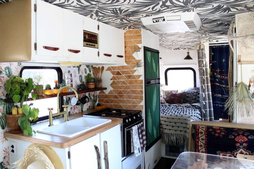 An Envy Inducing Boho Glam Rv Renovation Rv Interior