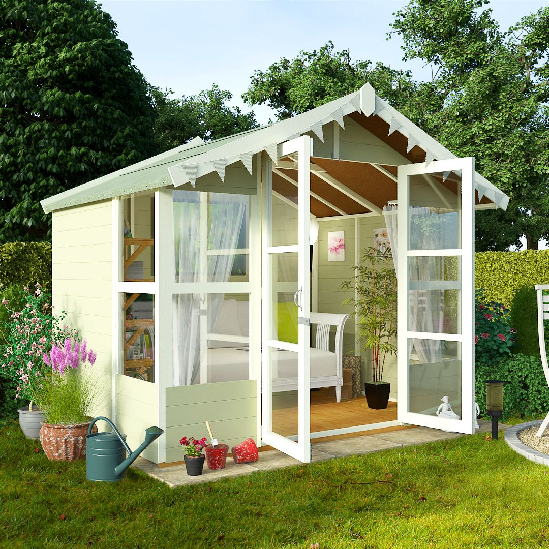 BillyOh 8 x 8 Lucia Tongue and Groove Garden Summerhouse 4000 Range ...