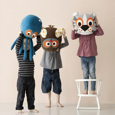 Plush pillows from Ferm Living's Summer 2012 collection.