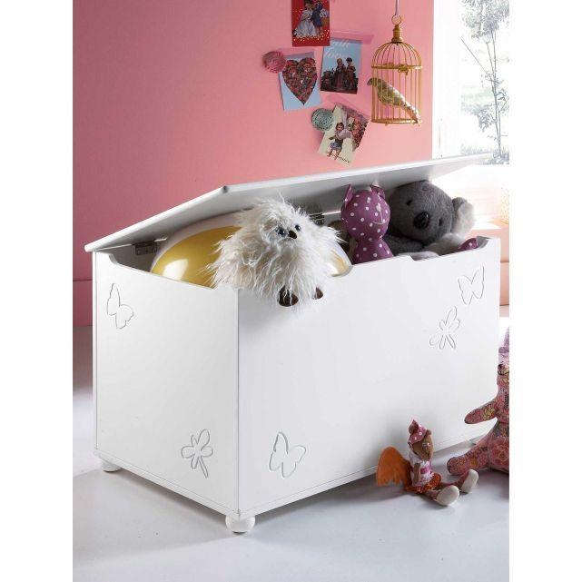 Coffre de rangement fille blanc, Vertbaudet | Baby Room/nursery ...