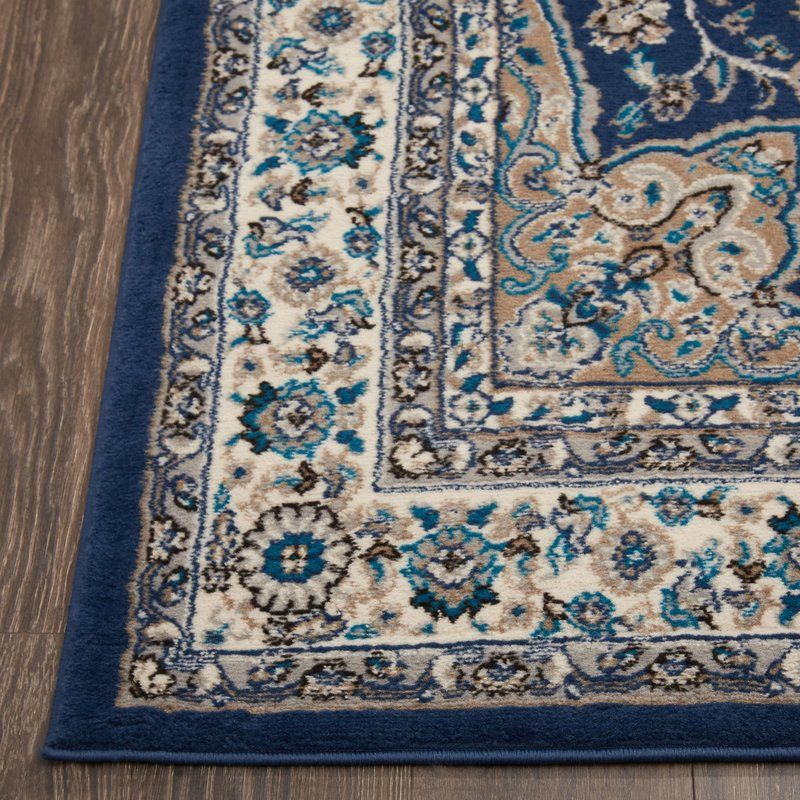 Tremont Blue Ivory Area Rug Area Rugs Rugs Navy Blue