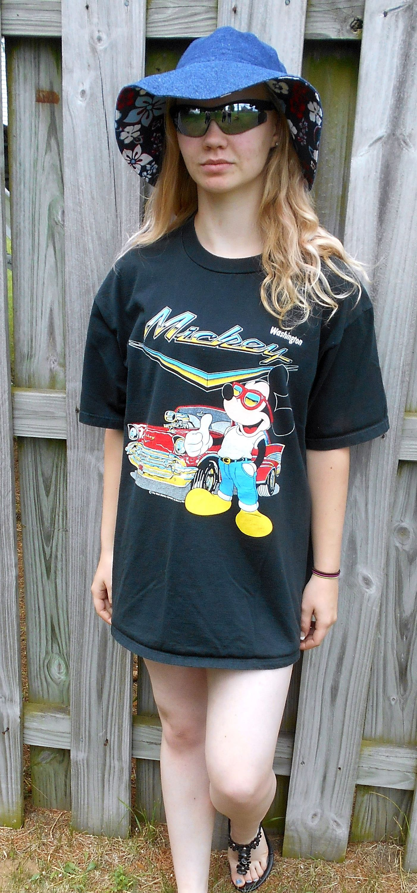 Black t shirt dress etsy - Vintage 90s Mickey Mouse Hot Rod Classic Car Hip Hop Tee T Shirt Walt Disney Washington