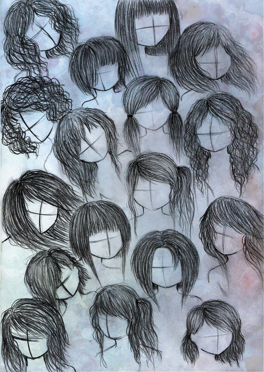 anime or manga hair styles 2 by VillainAurora.deviantart