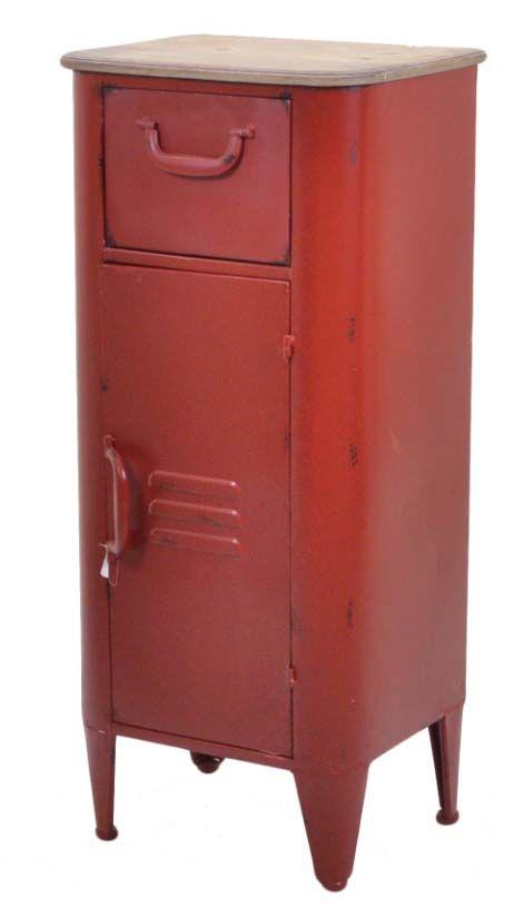 Mobiletto industriale rosso Edimburgo   Arredamento ...