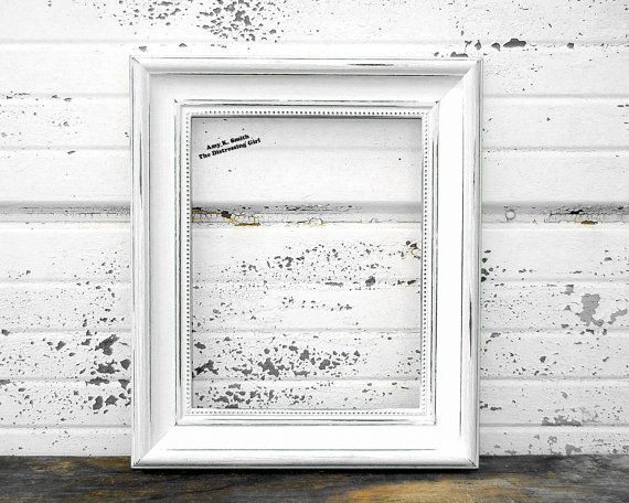 white 8x10 picture frame rustic 2