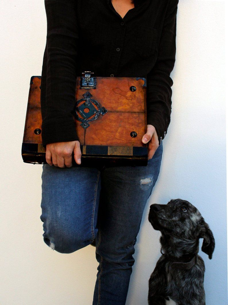 Medieval Art Book Large Leather Journal With Lock And Key Vintage Leather One Of A Kind Heirloom