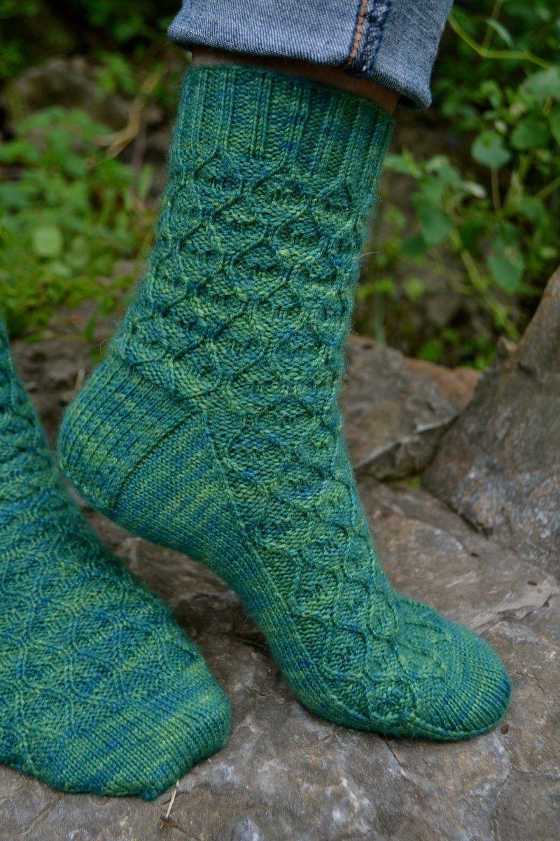 Hand Knitted Socks 3435