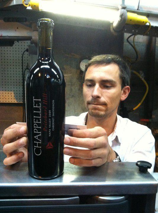Henri on the bottling line