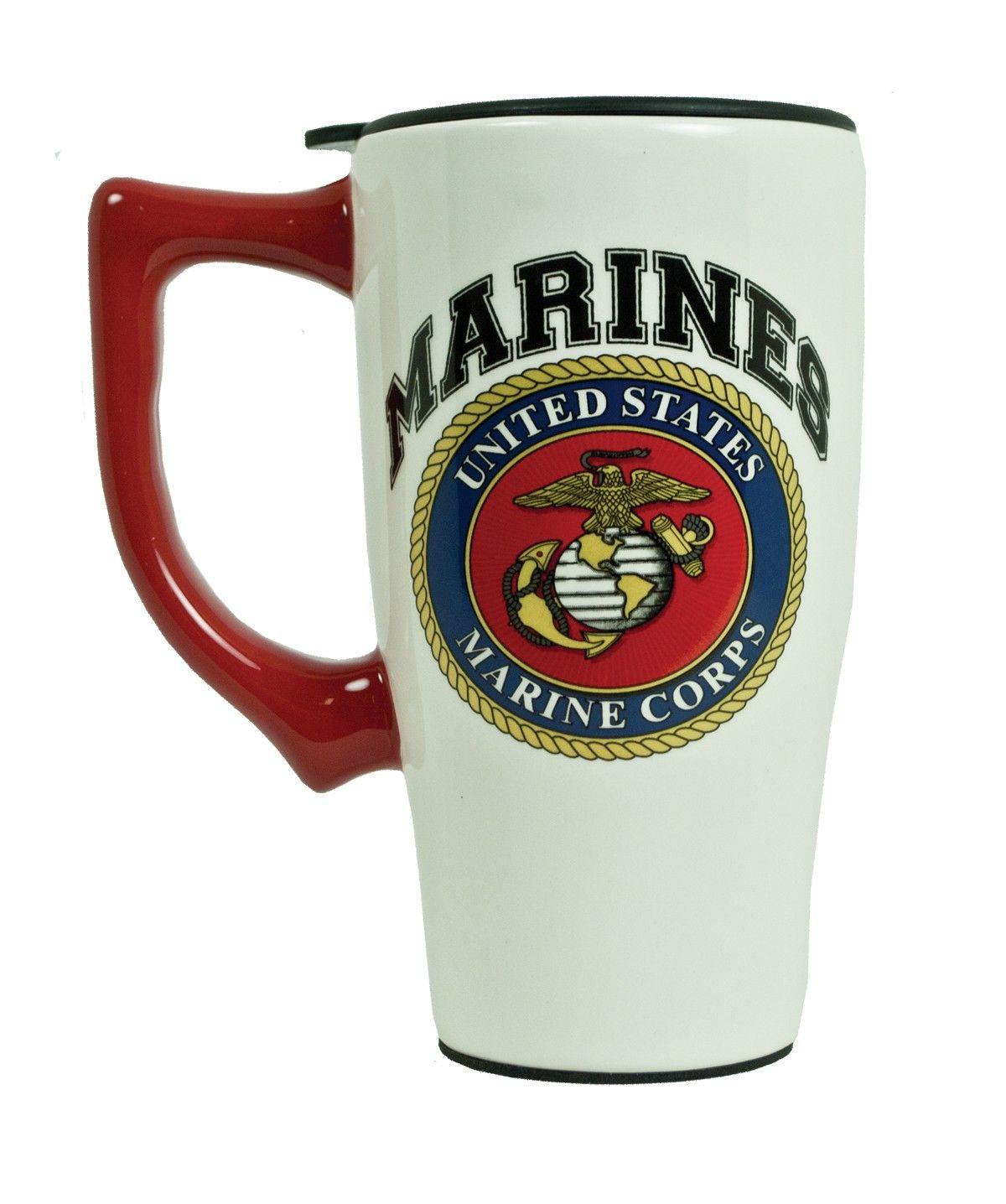 Ceramic Marines Travel Mug Home Sgt Grit Marine Corps