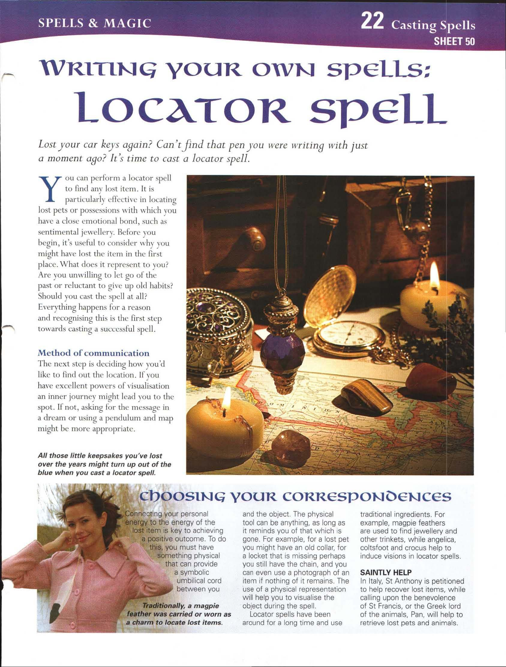 Writing Your Own Spells Locator Spell My Magickal Path