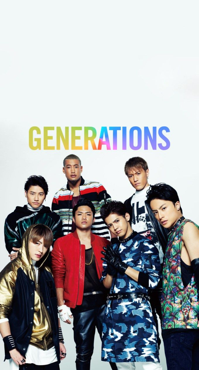 Generationsメンバー レインボーロゴ Generation J Pop Bands Japanese Boy