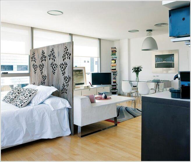 Clever Ways To Design A Living Room And Bedroom Combo Apartamentos Pequenos Decoracao Apartamento Pequeno Espacos Pequenos