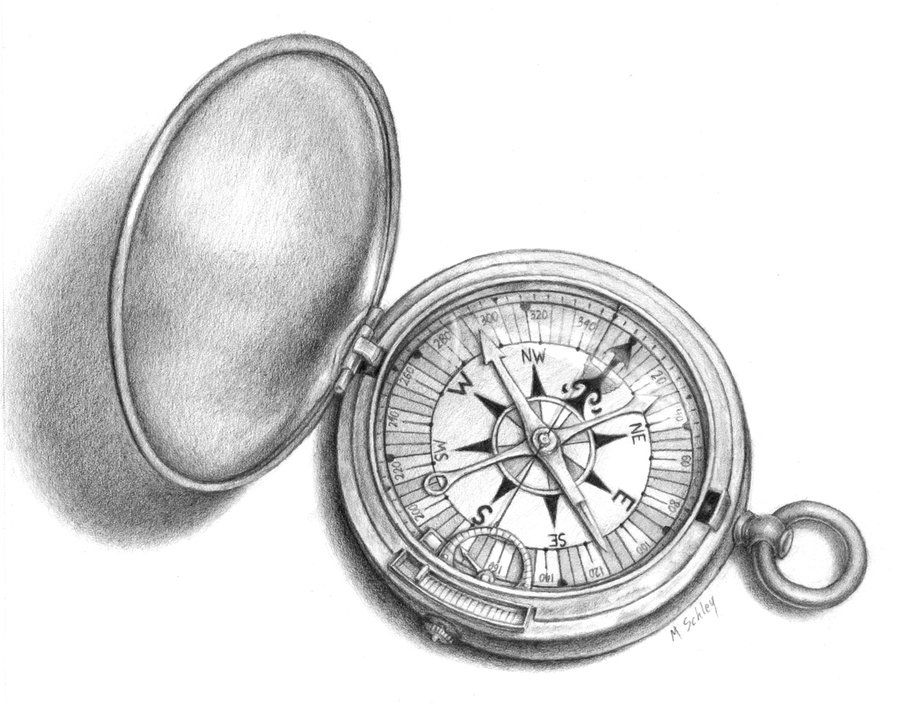 Compass Tattoo Line Drawing : Pocket compass drawing pixshark images