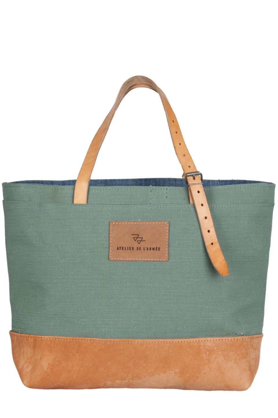 canvas leather tote bag no. 421