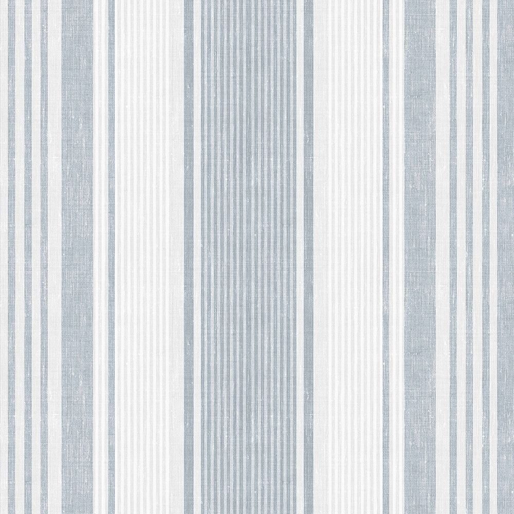 Linen Stripe by Boråstapeter Blue, Grey and White