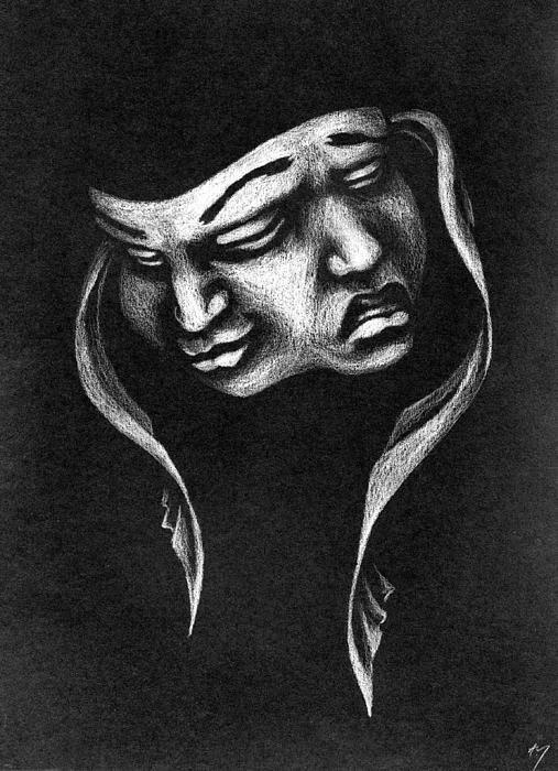drama faces   Drama masks, Gemini tattoo, Mask tattoo