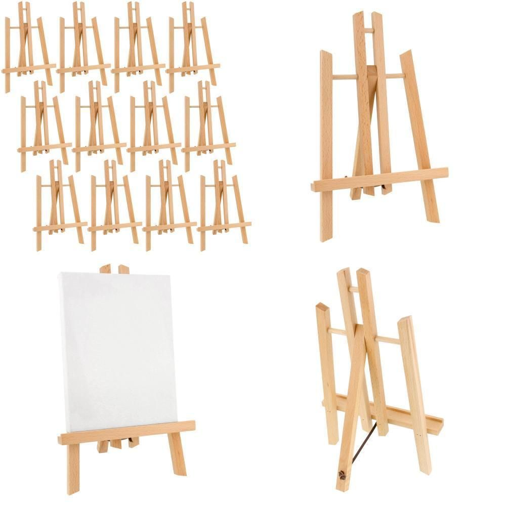 "US Art Supply 18/"" Tall Wood Tabletop A-Frame Display Painting Artist Easel"