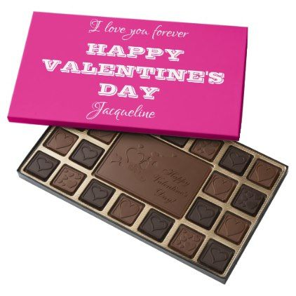 Pink Happy Valentine\'s Day Chocolates For Her - kitchen gifts diy ...