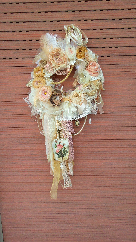 Shabby Chic Everyday Wreath Front Door Wreath Year Round
