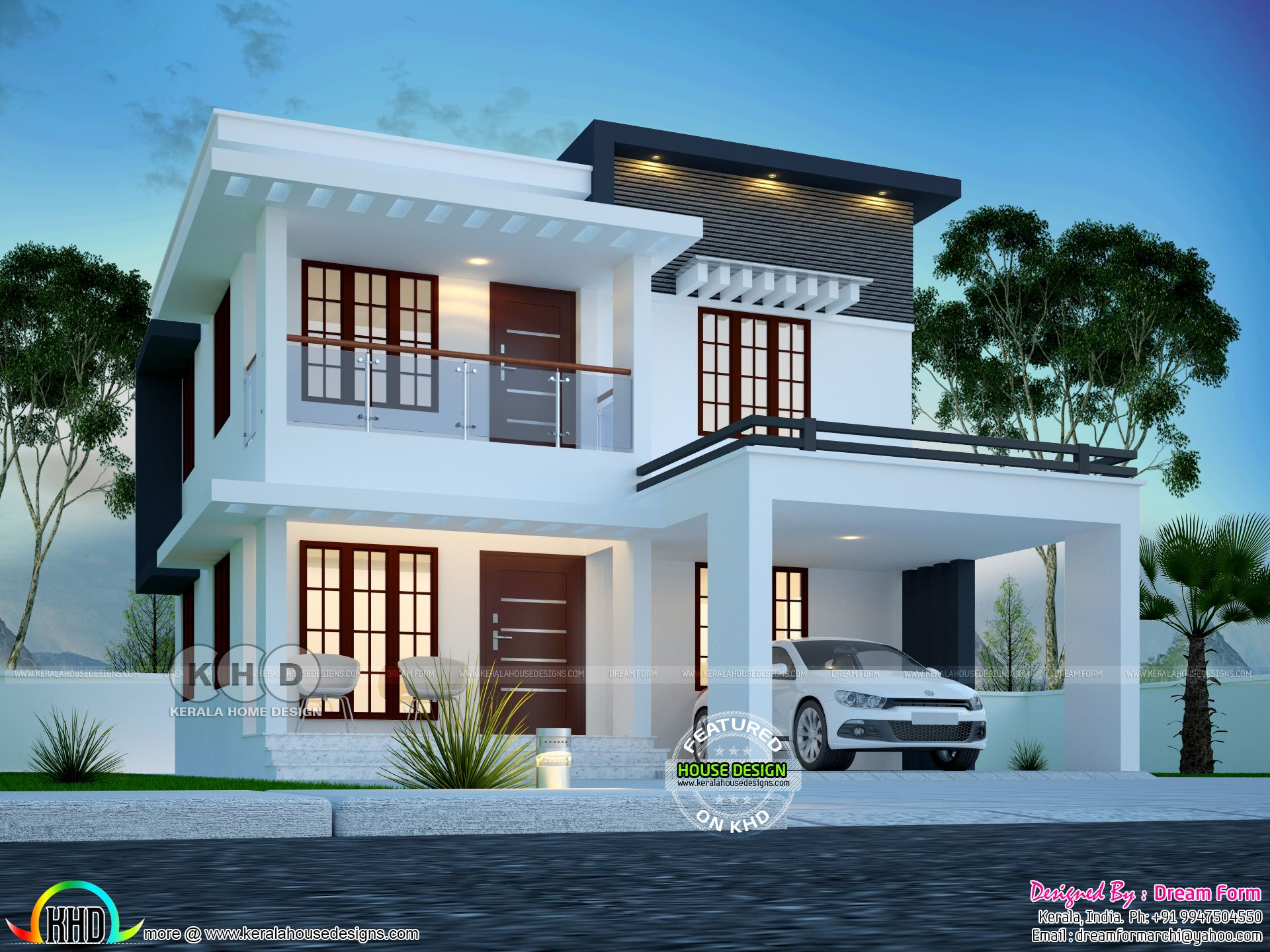 Low cost home 1610 sq-ft home design | House roof design ...