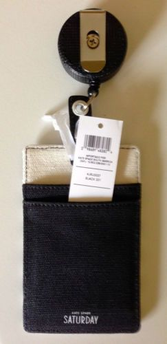 Sold OUT Kate Spade Saturday Canvas Retractable ID Holder Urban Sassy | eBay