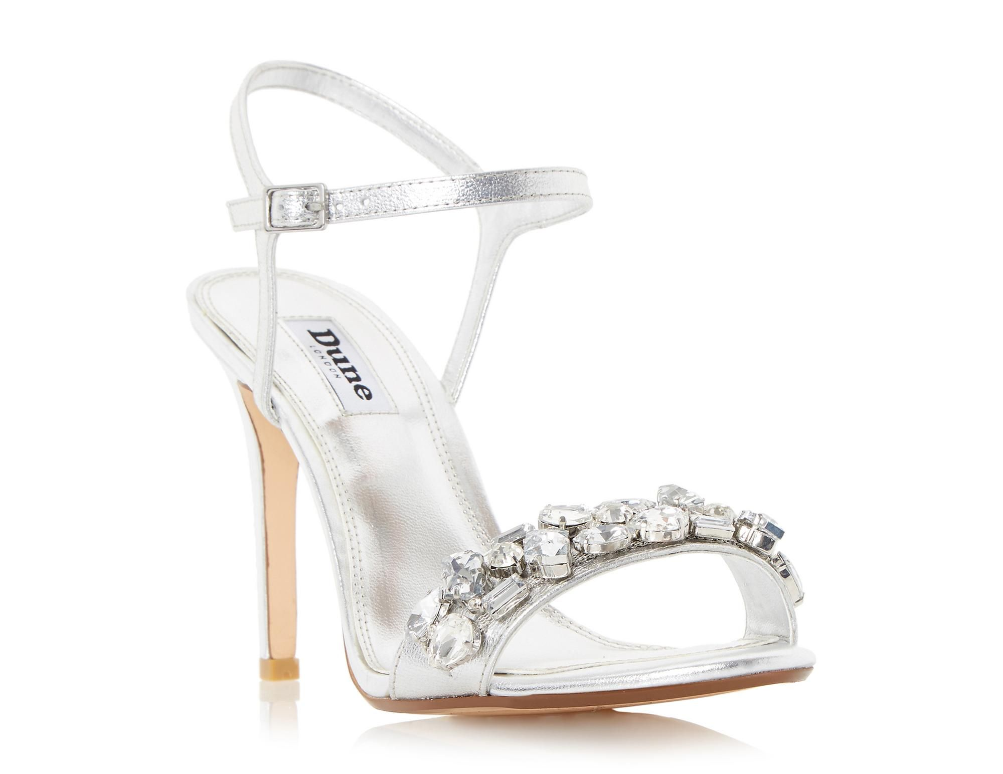 dc076ada9c DUNE LADIES MYA - Jewel Embellished High Heel Sandal - silver | Dune Shoes  Online