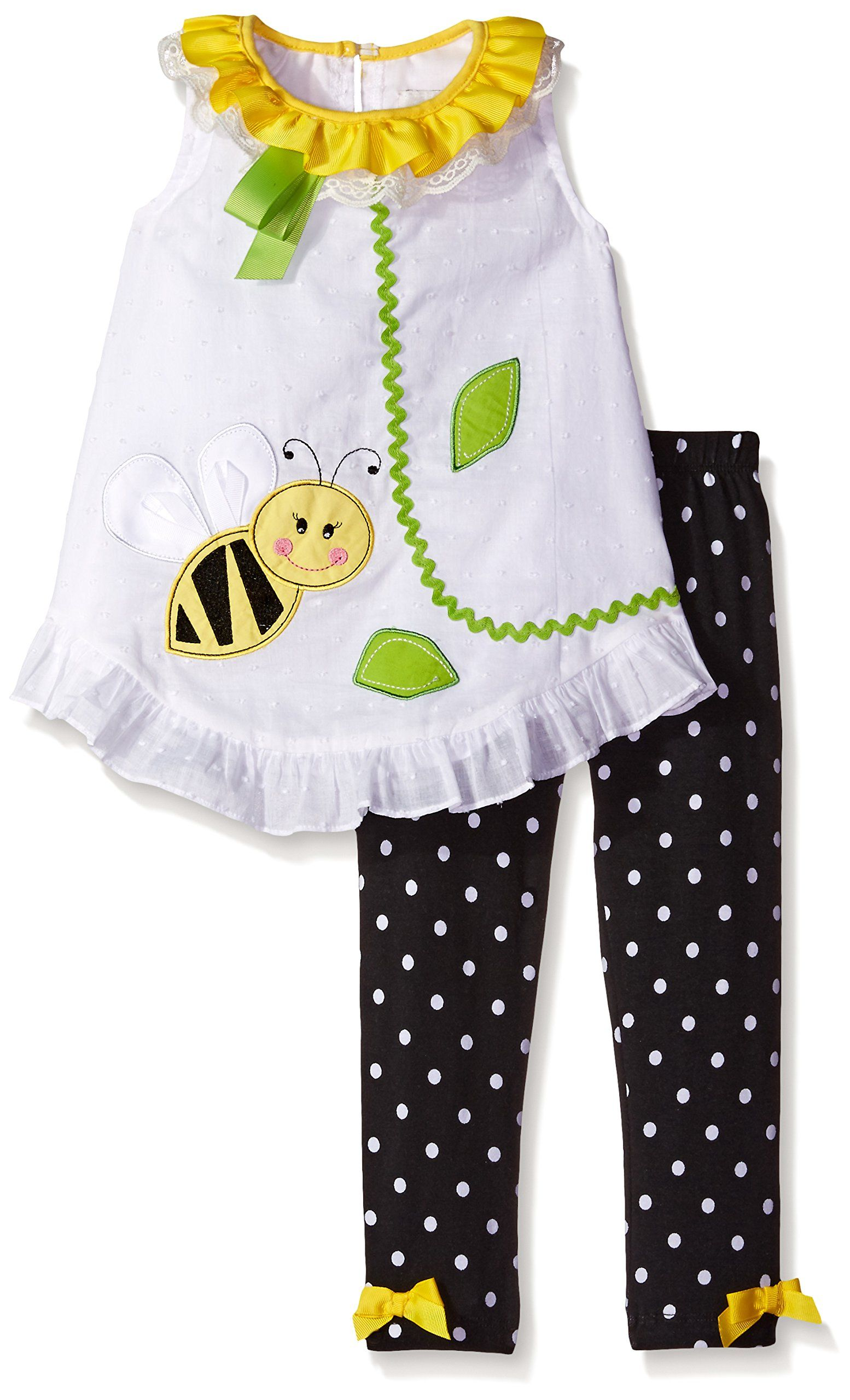 Rare Editions Little Baby Girls Applique Legging Set